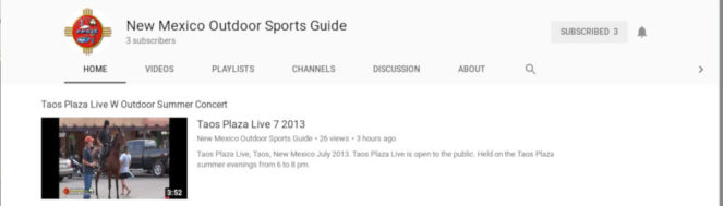 New Mexico Outdoors Sports Guide Launches YouTube Channel